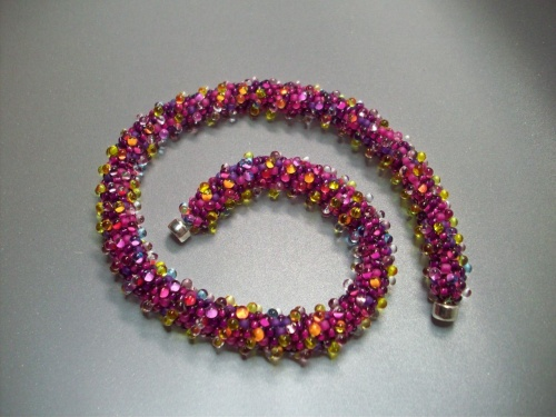 Hand Felted Bangle with Beaded Bead Kit